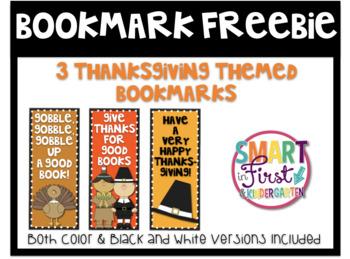Thanksgiving Bookmark Freebie