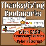 Thanksgiving Bookmark Freebie! Engaging Bookmark Activitie