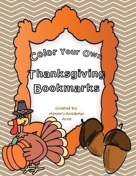 Thanksgiving Bookmarks ~Color Your Own~