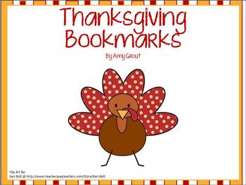 Thanksgiving Bookmarks Freebie