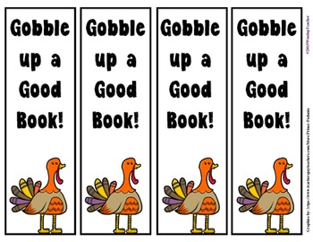 Thanksgiving Bookmarks: Gobble up a Good Book!