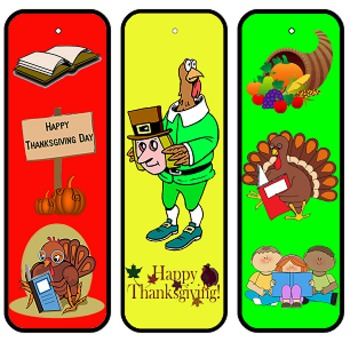 Thanksgiving Bookmarks - Happy Thanksgiving!