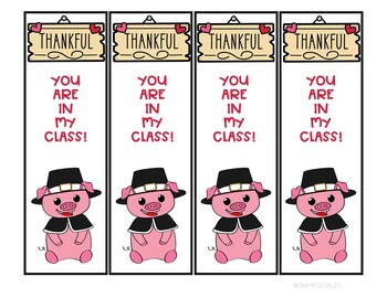 Thanksgiving Bookmarks Students and Friend Thanksgiving Gifts FREEBIE