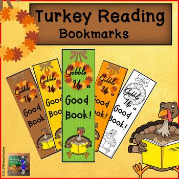 Thanksgiving Bookmarks: Turkey Reading!