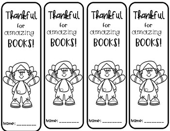 Thanksgiving Bookmarks and Writing Activity