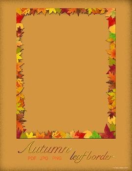 Thanksgiving Border - Autumn Leaves Border Frame