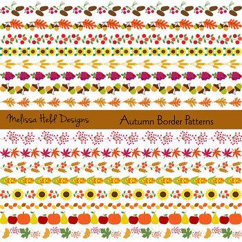 Clipart: Thanksgiving Border Patterns  Clip Art