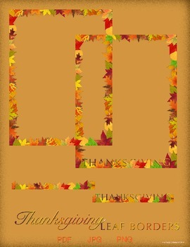 Thanksgiving Borders - Autumn Leaves Pack