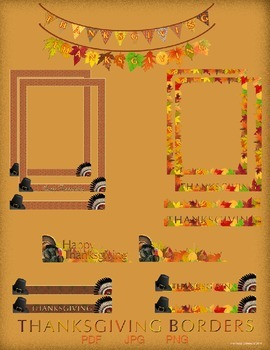 Thanksgiving - Borders and Frames