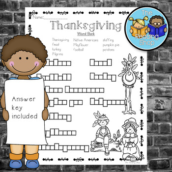 Thanksgiving Word Puzzles - Letter Boxes