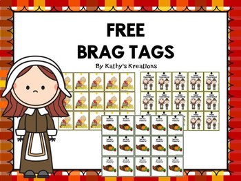 Thanksgiving Brag Tags FREE
