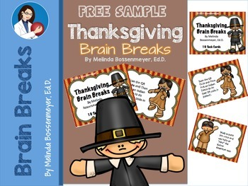 Thanksgiving Brain Break  Cards