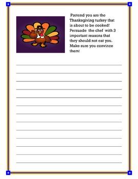 Thanksgiving Break Homework Journals