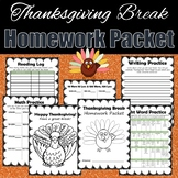 Thanksgiving Break Homework Packet
