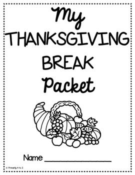 Thanksgiving Break Packet