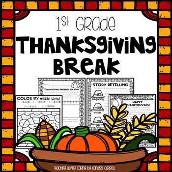 Thanksgiving Break Homework Packet - First Grade