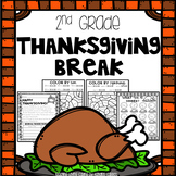 Thanksgiving Break Packet - Second Grade