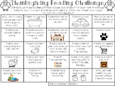 Thanksgiving Break Reading Challenge Choice Board