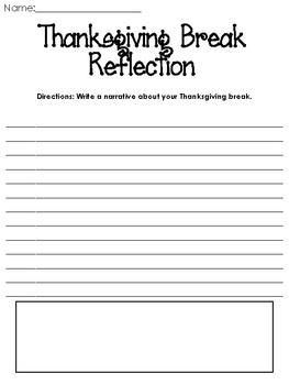 Thanksgiving Break Reflection