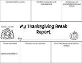 Thanksgiving Break Report