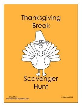 Thanksgiving Break Scavenger Hunt