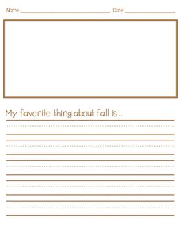 Thanksgiving Break Writing Packet