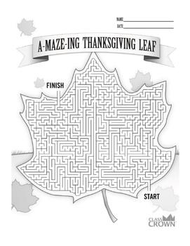 Thanksgiving Break homework packet