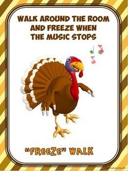 Thanksgiving Breaks for the Classroom- 20 Movement Breaks