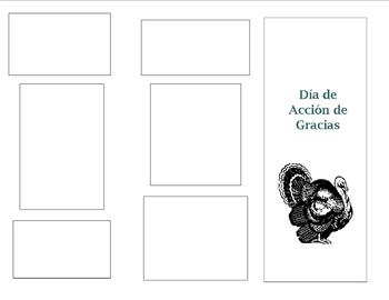 Thanksgiving Brochure Project in Spanish Class