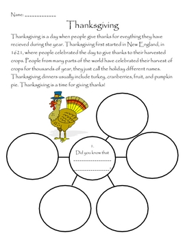 Thanksgiving - Bubble Map