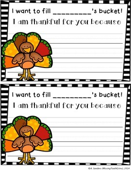 Thanksgiving Bucket Fillers