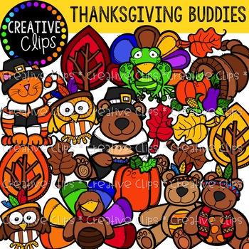 Thanksgiving Buddies {Creative Clips Digital Clipart}