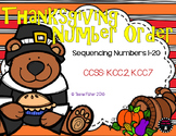 Thanksgiving Buddies Sequencing 1-20 Fall Math File Folder Game Center