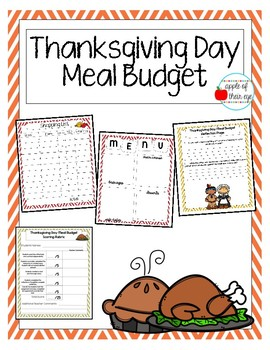 Thanksgiving Budget Activity