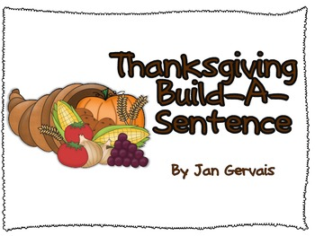 Thanksgiving Build A Sentence