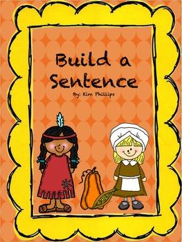 Thanksgiving Build A Sentence Center Activity