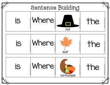 Thanksgiving Build a Sentence