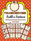 Thanksgiving Build a Sentence Literacy Center {Fry Words}