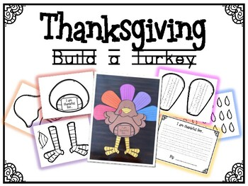 Thanksgiving Build a Turkey (I am thankful for...)