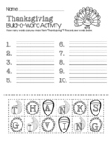 Thanksgiving Build-a-Word Activity