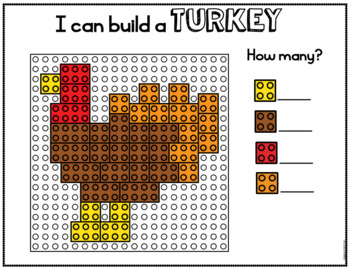 Thanksgiving Building Block Mats and Task Cards
