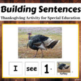 Thanksgiving Building Sentences Activity for Speech Therapy