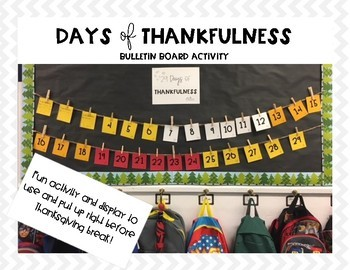 Thanksgiving Bulletin Board Activity