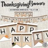 Thanksgiving Banner - Holiday Banner - Fall Banner