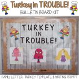 Thanksgiving Bulletin Board Ideas - Turkey in Trouble Activity