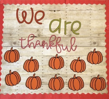 Thanksgiving Bulletin Board | With Writing Prompt