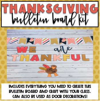Thanksgiving Bulletin Board or Door Kit