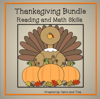 Thanksgiving Bundle:Reading, Math, and Writing Skills