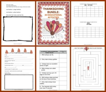Thanksgiving Bundle:  20 Educational Activities!