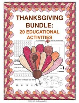 Thanksgiving Bundle:  20 Educational Activities!